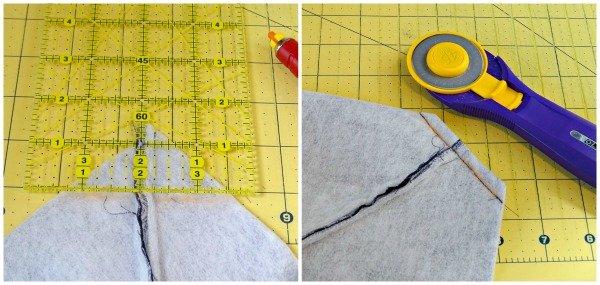 Sew a boxed corner on a bag