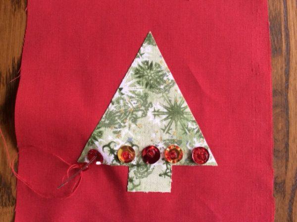 Applique Christmas ornaments