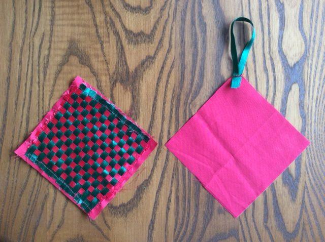 Stitch fabric ornaments