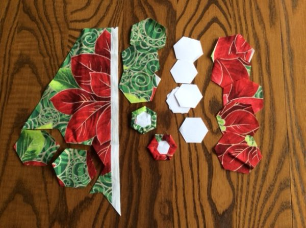 Cutting hexagons for patchwork