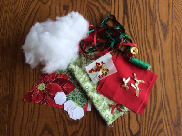 Sew simple tree decorations
