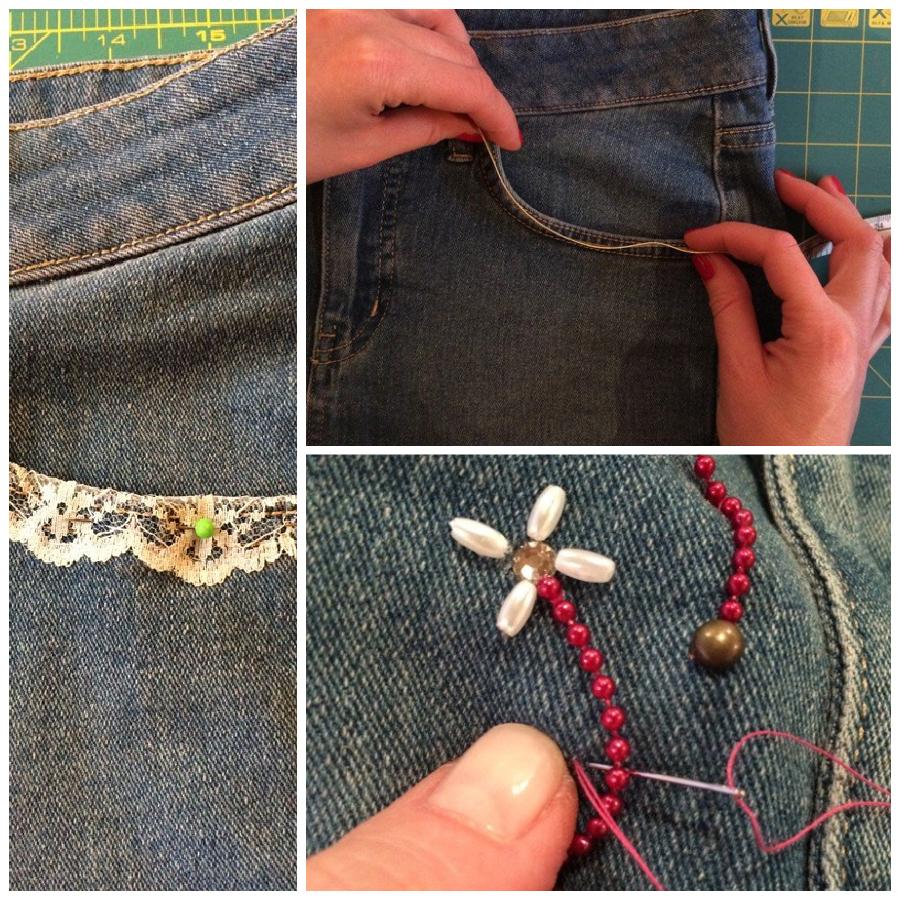 Customise a plain skirt