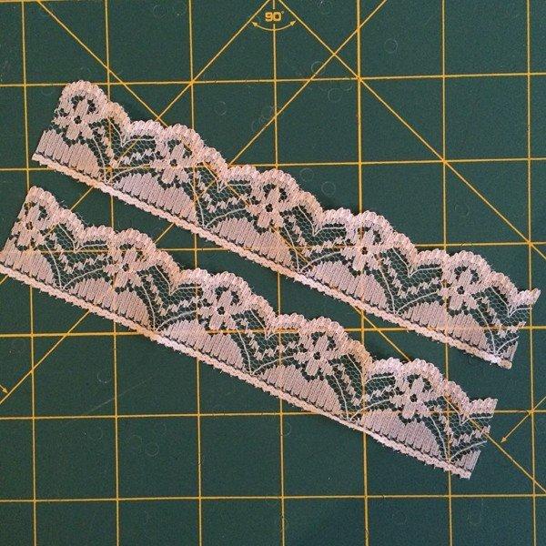 Add a lace trim to a garment