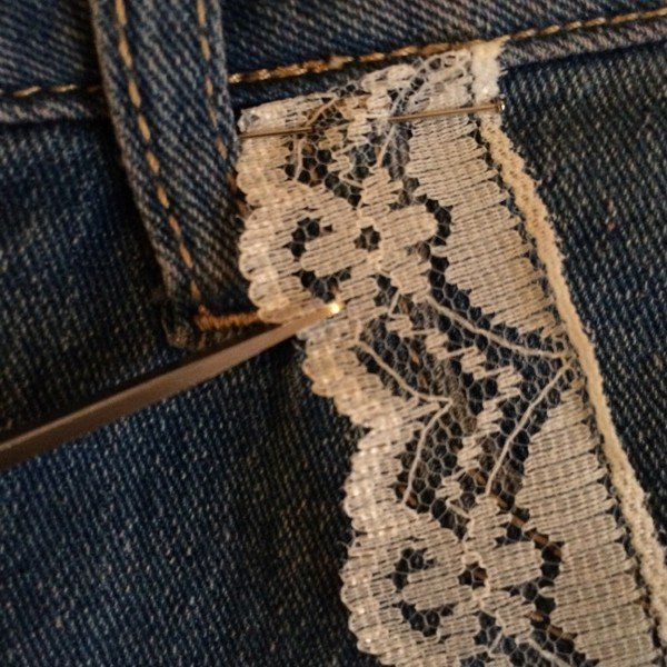 Sew with lace