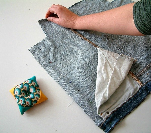 How to make a a bag from old jeans step by step tutorial
