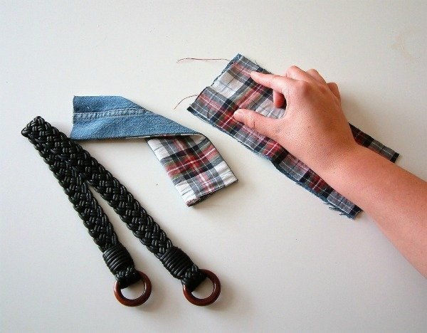 How to sew an upcycled tote bag from jeans