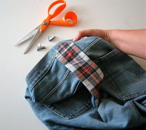 Sewing a denim bag