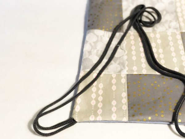 Beginner's sewing project - learn to sew a drawstring bag