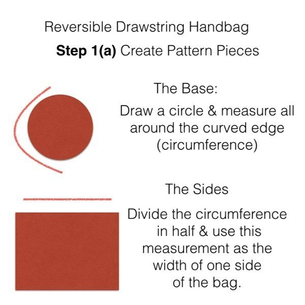 Create a pattern for a drawstring bag