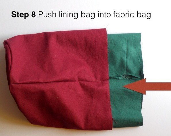 Sewing a lined pouch