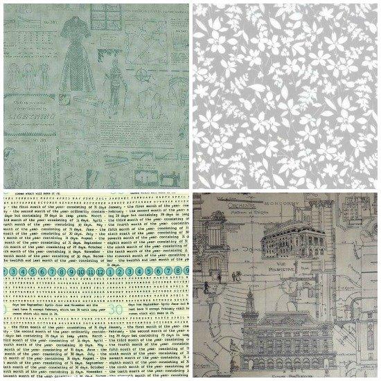 Fabrics with text