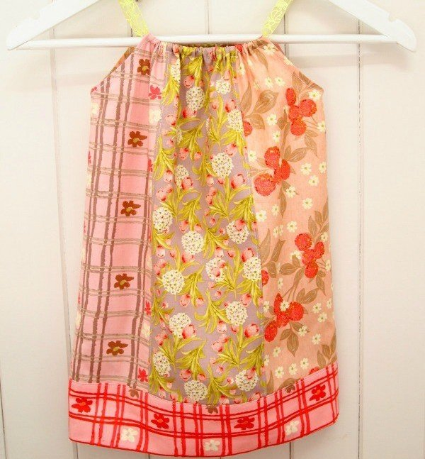 Make a child's dress from fat quarters