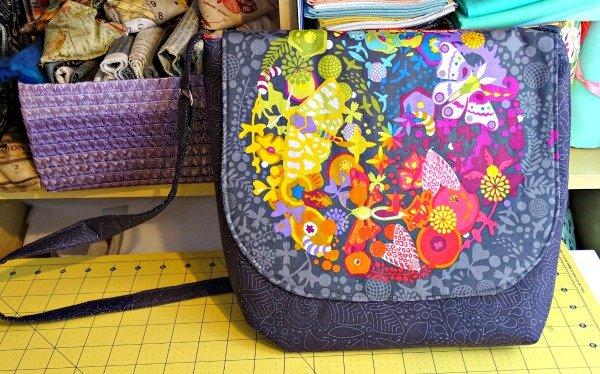 Finished messenger bag