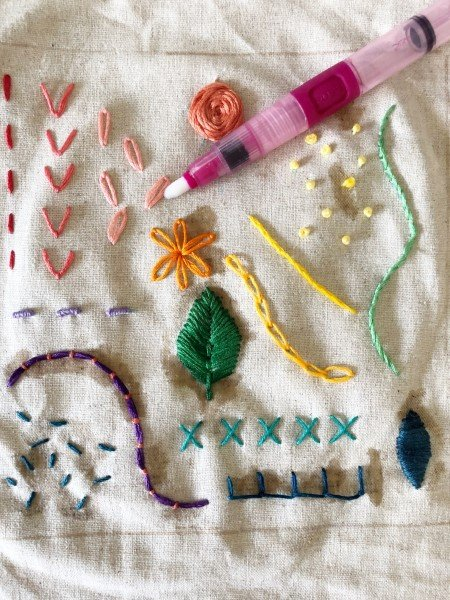 Finish and mount an embroidery