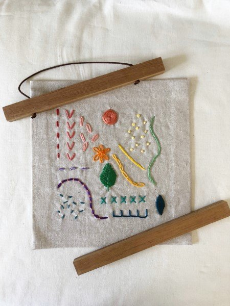 Framing an embroidery