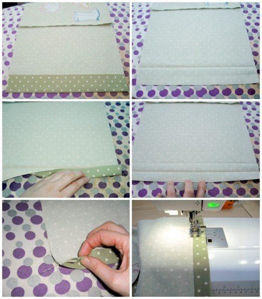 Flower applique pillow to sew