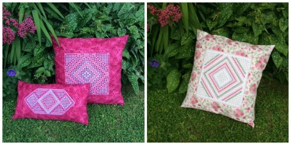 Cushions with Hardanger embroidery