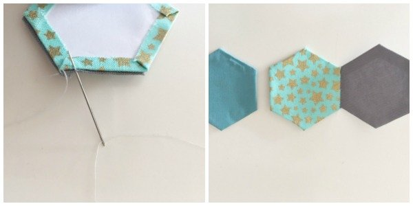 How to join English Paper pieced shapes