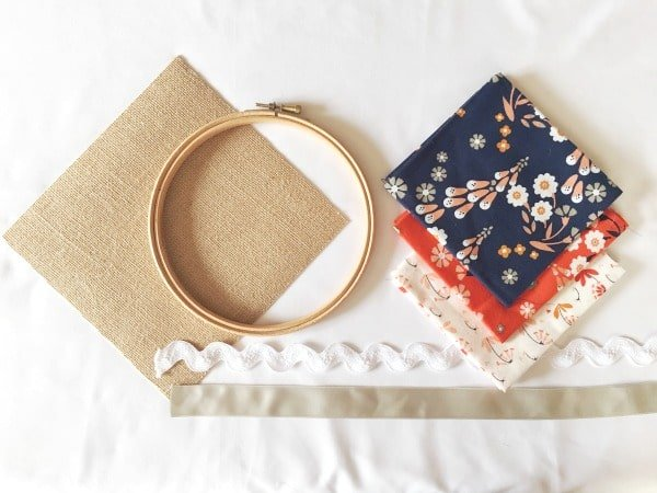 Project using an embroidery hoop