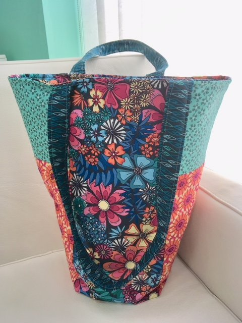 Easy patchwork tote project for beginners