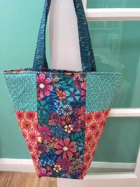 Makower shaped tote bag project with step by step photos