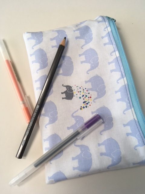Sewing with children - pencil case project