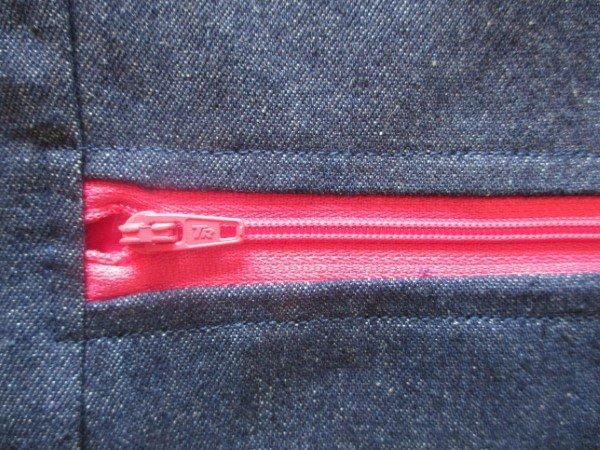 Topstitch a zip