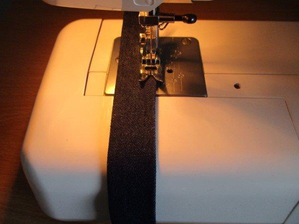 Bag straps made from denim