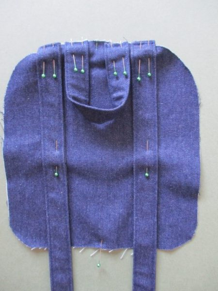 Sew a backpack with straps