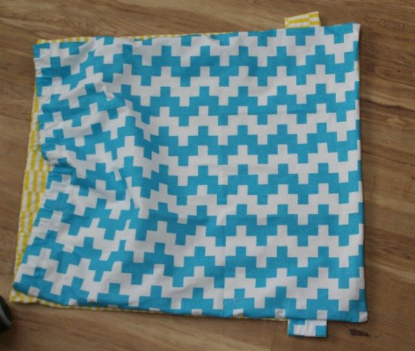how to sew a bag using tea towels