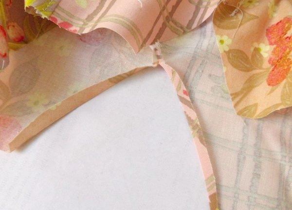 Sew an armhole neatly