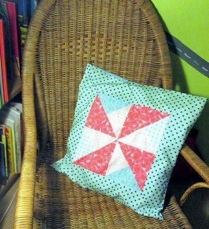 Pinwheel patchwork pillow