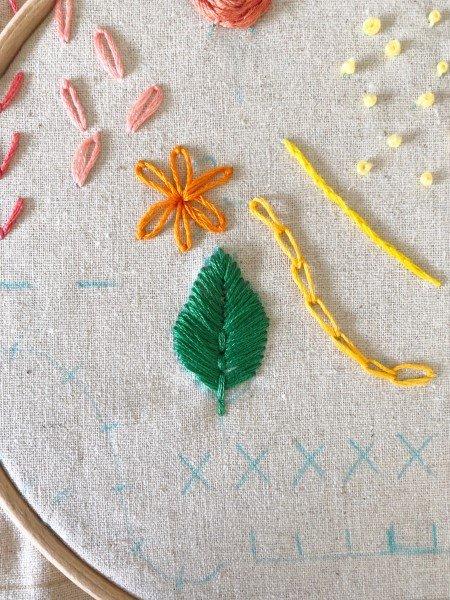 Free stitch sampler