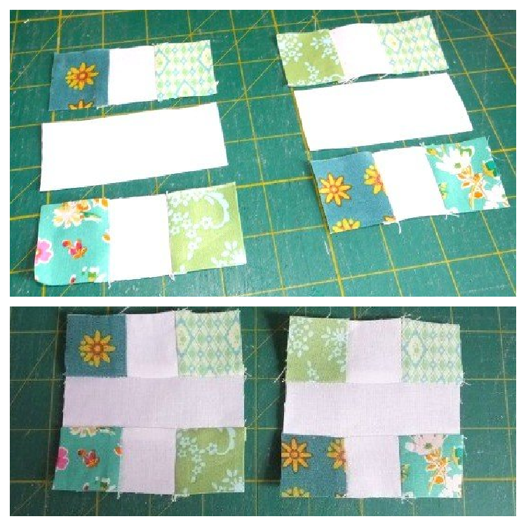 How to sew patchwork crosses