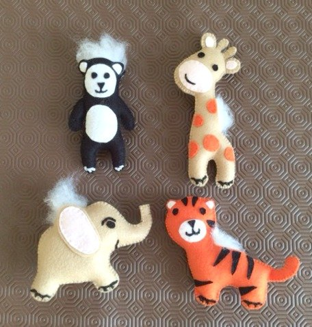 How to make felt mobile animals