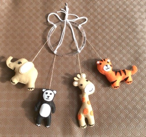 How to sew a felt animal mobile for a baby