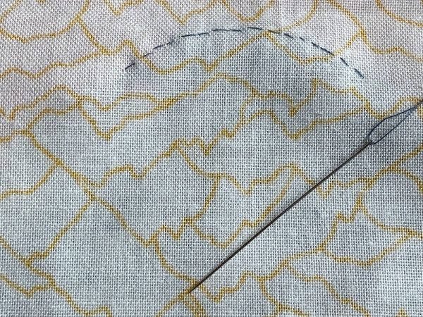 How does needle turn applique look from the back?