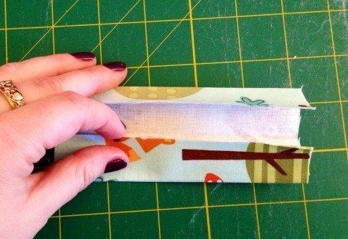 Making a fabric bag strap