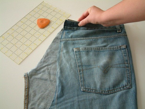 Recycled jeans bag project