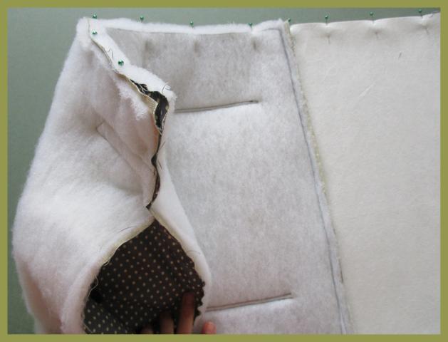 Sewing bag panels together