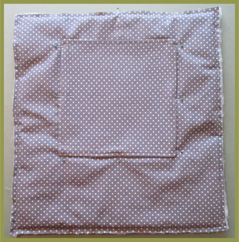 Sew panels for a bag