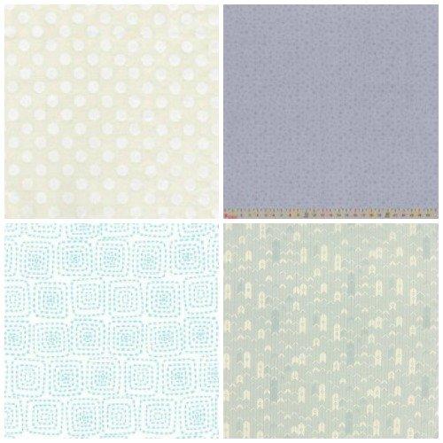 Neutral coloured quilting fabrics