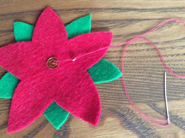 Stitch a floral wreath