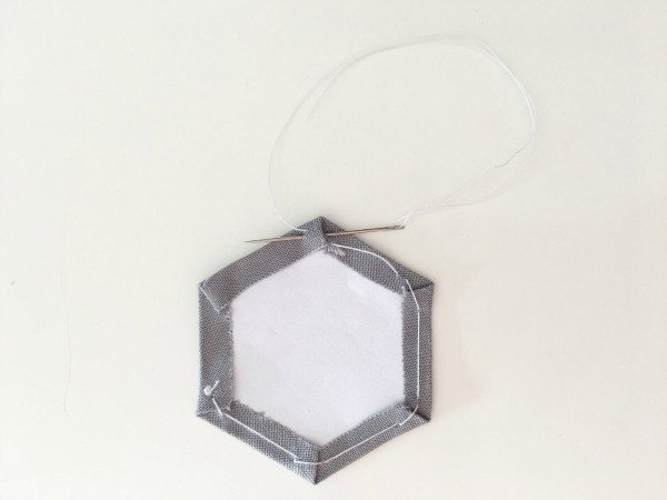 How to stitch baste hexagons