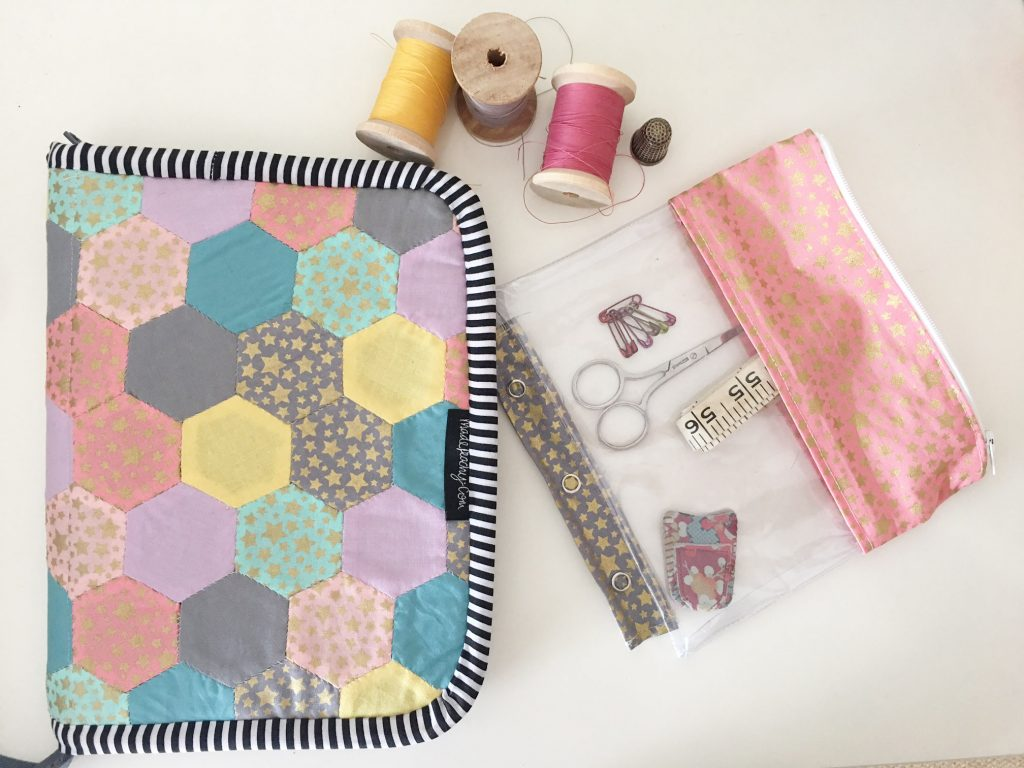 English paper pieced sewing case pattern free