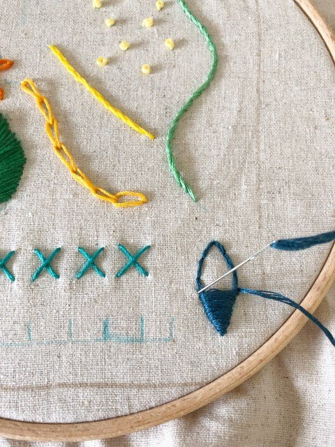 Learn lots of hand embroidery stitches