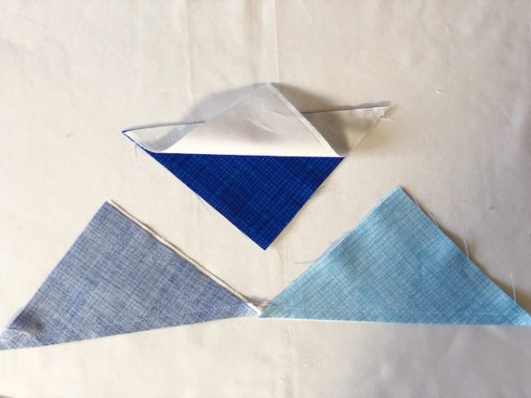 How to sew half square triangles
