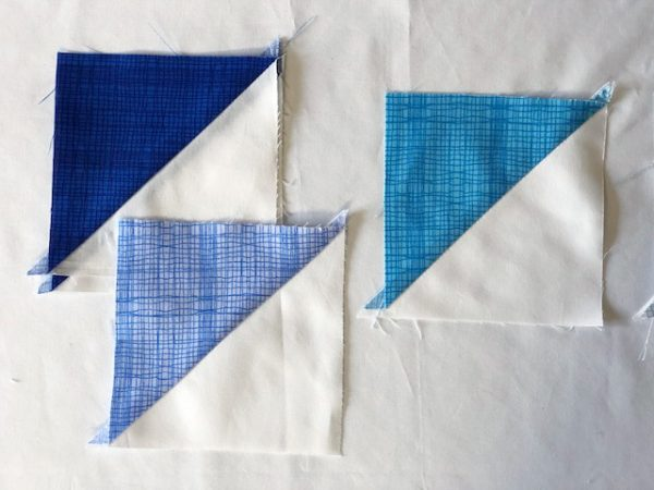 Half square triangle quilt block