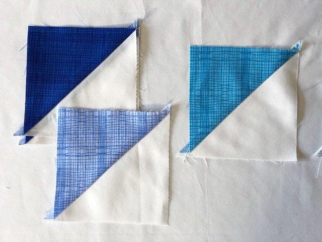 Half square triangle quilt block