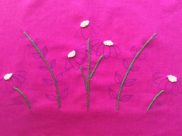 Floral embroidered cushion project